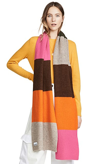 GANNI Вязаный шарф
