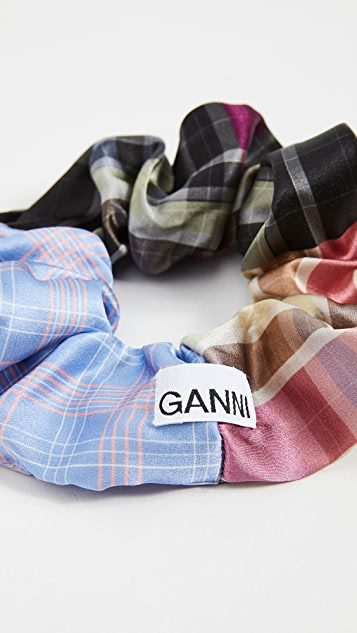 GANNI Silk Stretch Scrunchie