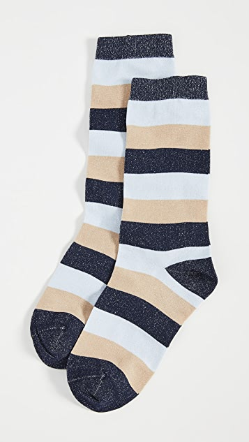 GANNI 金属色袜子