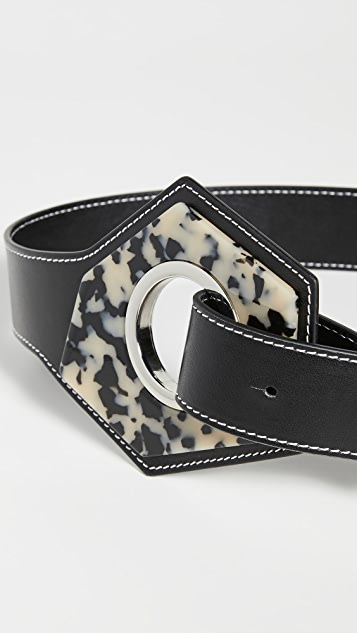 GANNI Leather Acetate Belt