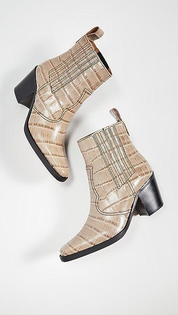 GANNI Ботинки в ковбойском стиле