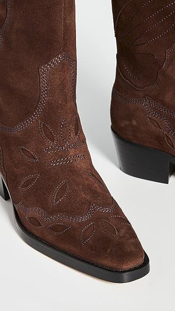 GANNI 西部风格高帮靴