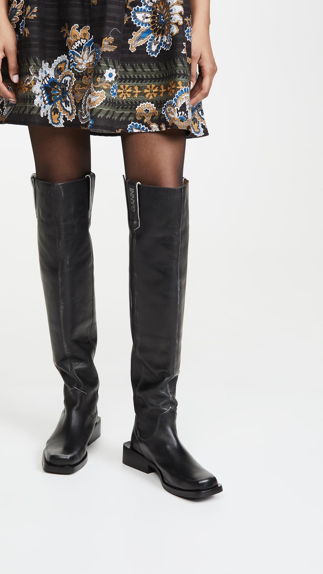 GANNI MC Knee Boots