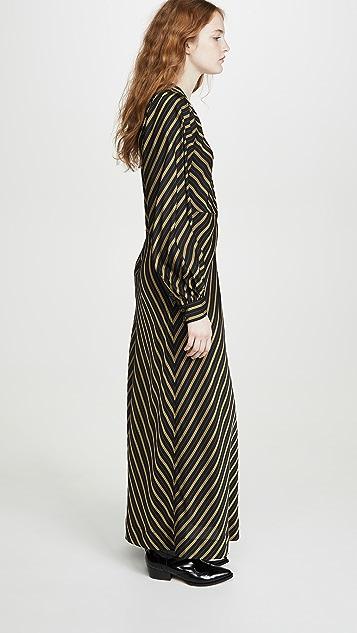 GANNI 粘纤条纹连衣裙