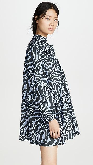 GANNI 印花棉质府绸连衣裙