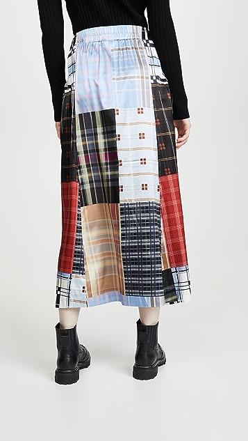 GANNI 真丝弹性缎面半身裙