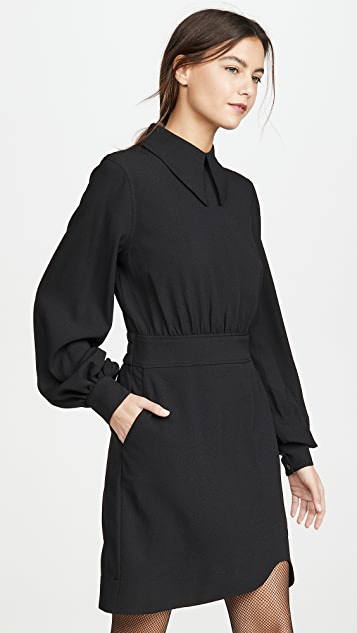 GANNI Recycled Heavy Crepe Dress