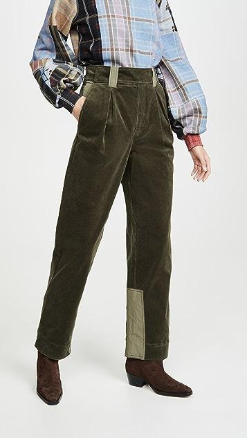 GANNI 弹性灯芯绒裤子