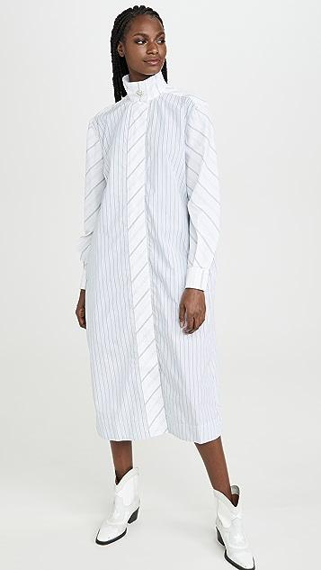 GANNI 棉质衬衣面料连衣裙