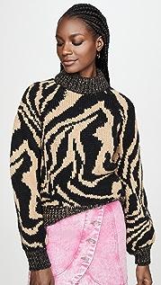 GANNI Hand Knit Wool Sweater