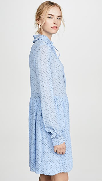 GANNI Платье из жоржета с принтом
