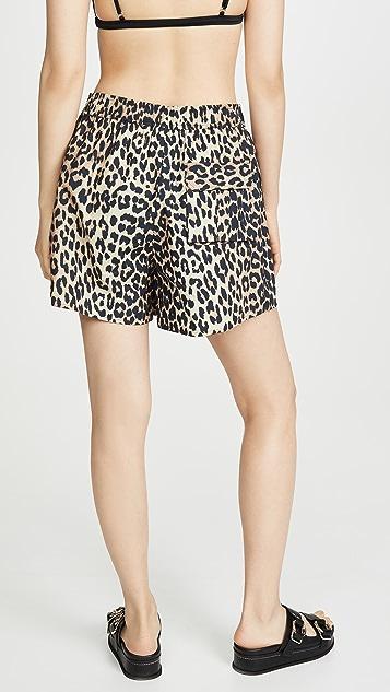 GANNI 豹纹短裤