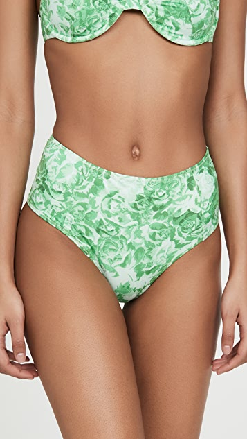 GANNI Printed Bikini Bottoms