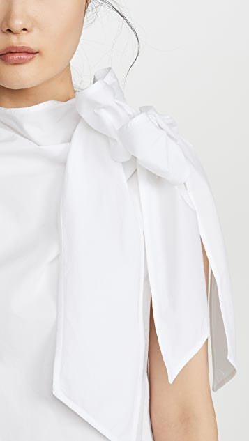 GANNI Cotton Poplin Blouse