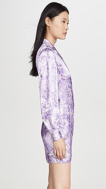 GANNI Массивное атласное платье