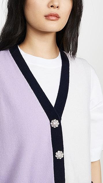 GANNI Cashmere Cardigan Vest