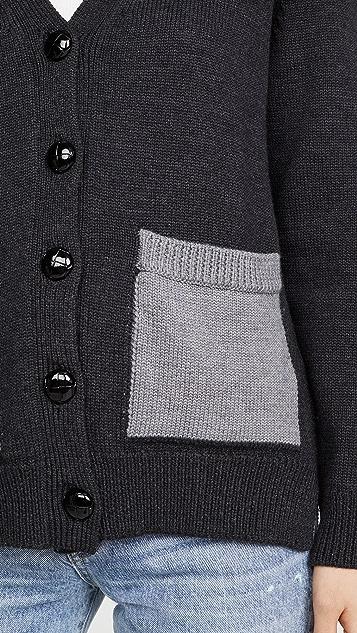 GANNI 羊毛针织开襟衫