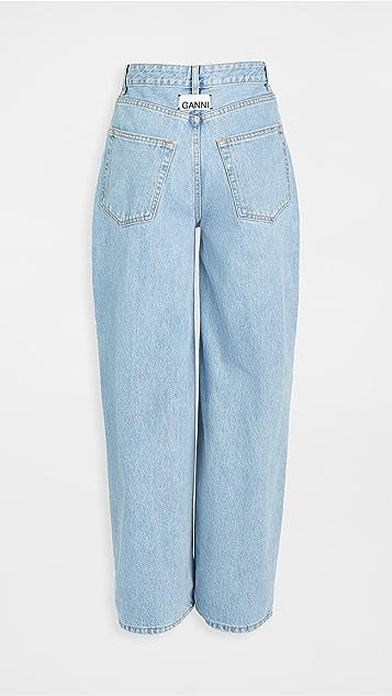GANNI Washed Denim Trousers