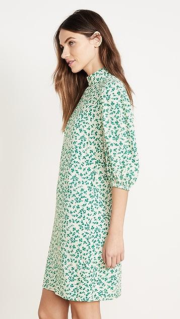 GANNI Printed Crepe Dress