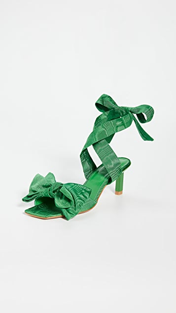GANNI Heeled Bow Sandals
