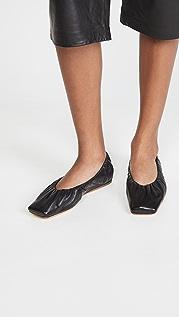GANNI 方头芭蕾舞平底鞋
