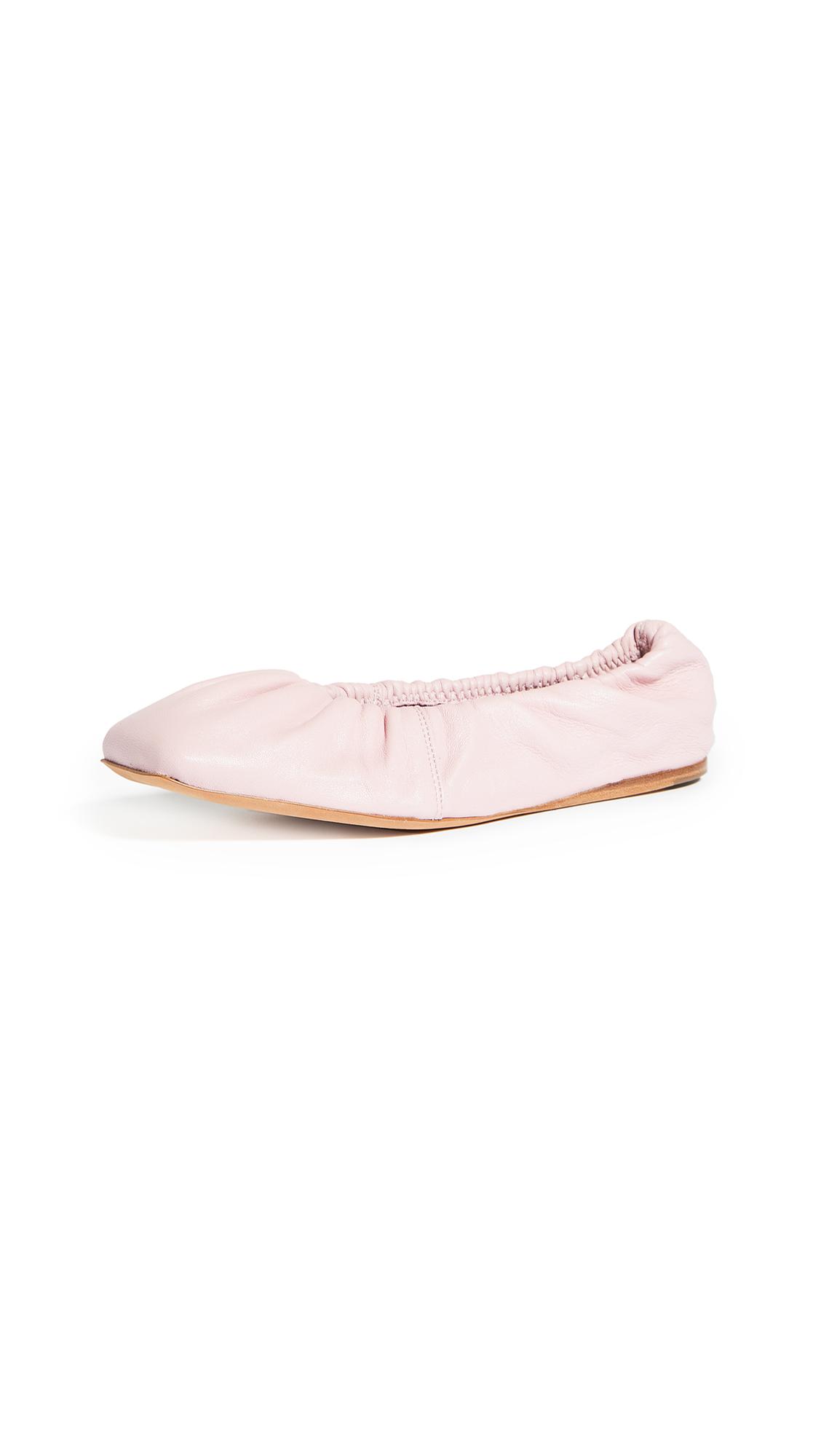 GANNI Square Toe Ballet Flats