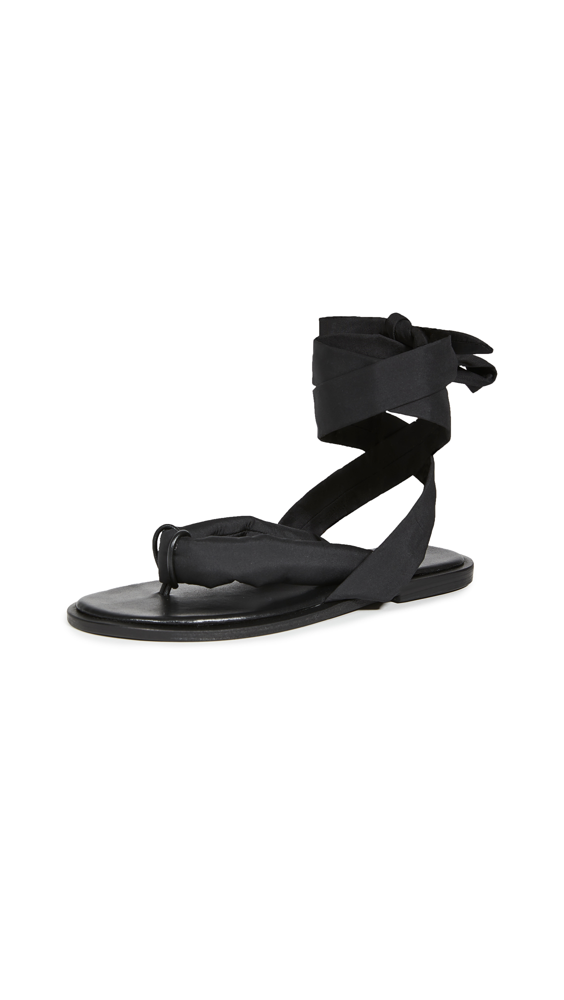 GANNI Puffy Wrap Sandals
