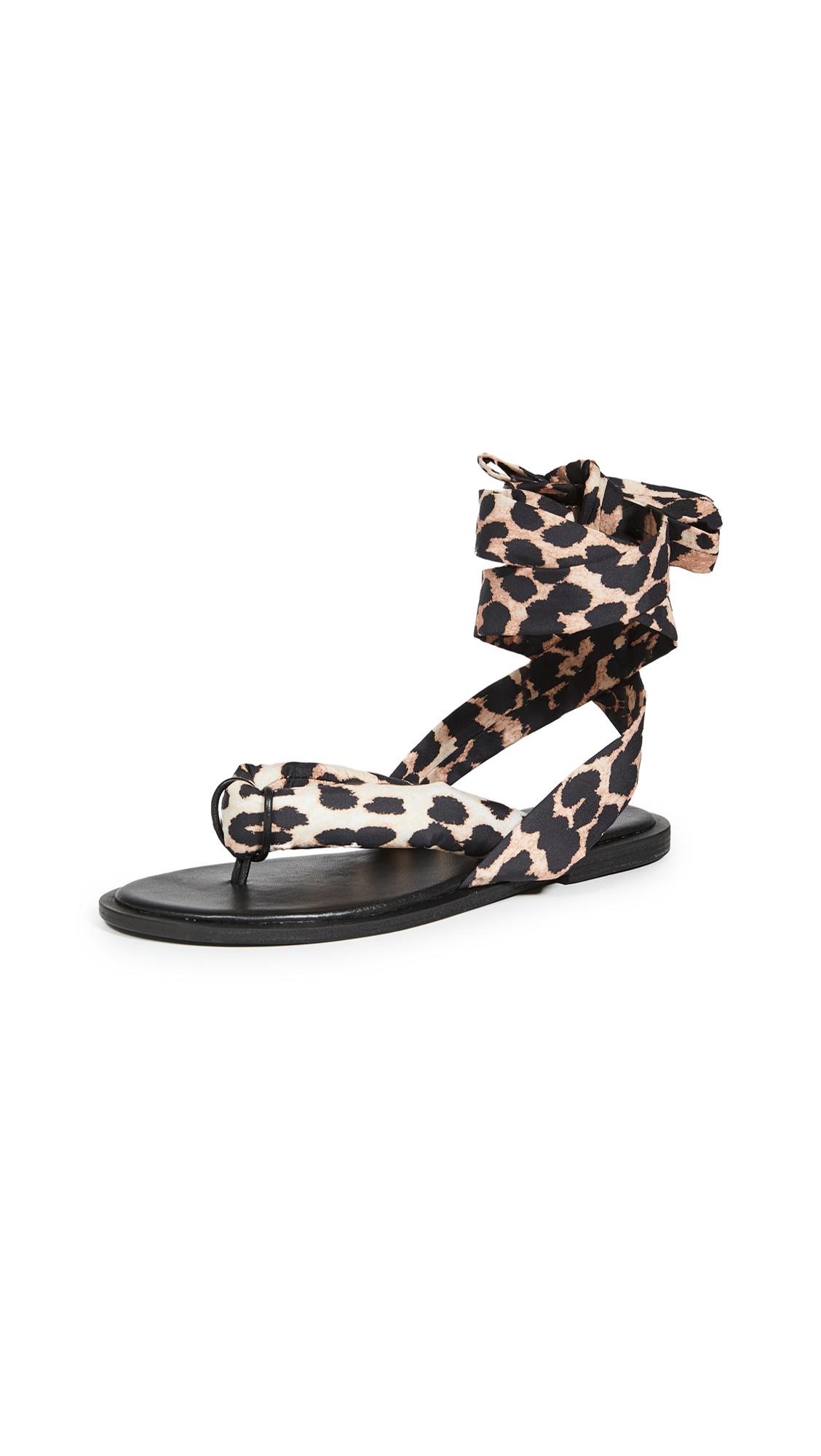 GANNI Puffy Wrap Sandals