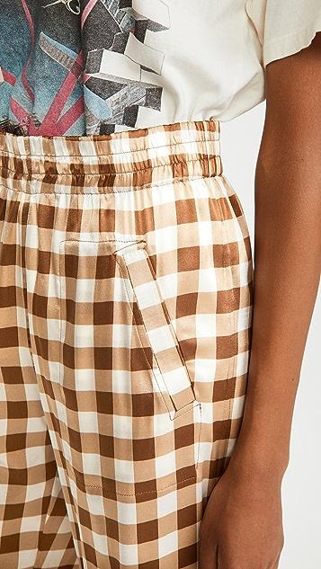 GANNI Silk Stretch Satin Trousers