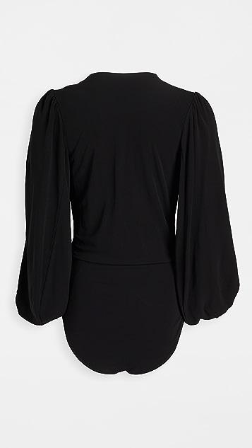GANNI Viscose Jersey Bodysuit