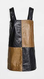 GANNI Lamb Leather Dress