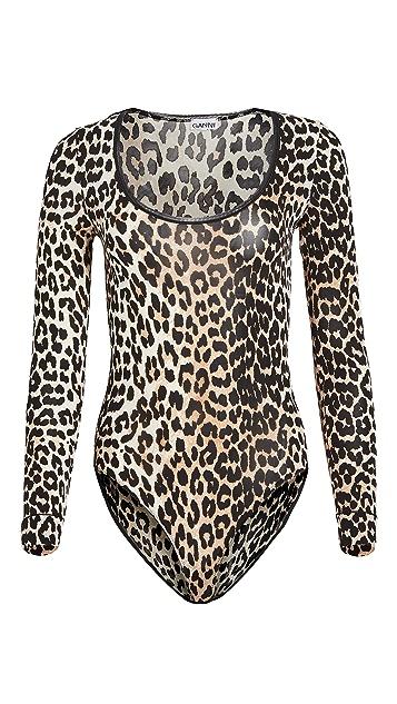 GANNI Leopard Bodysuit