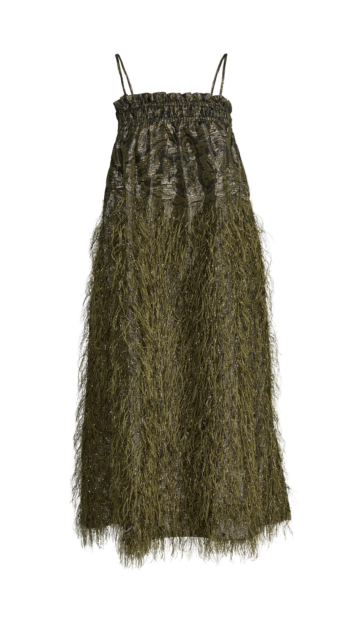 GANNI Feathery Cotton Sleeveless Dress