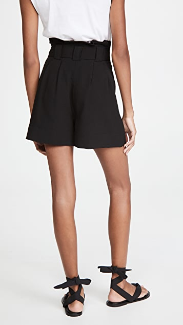 GANNI 厚实绉绸短裤