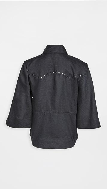 GANNI 轻质亚麻女式衬衫