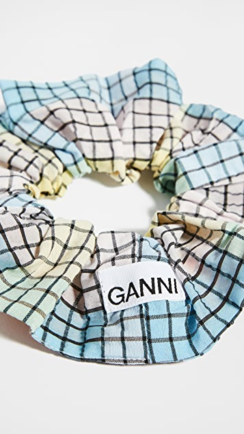 GANNI 泡泡纱格纹发带
