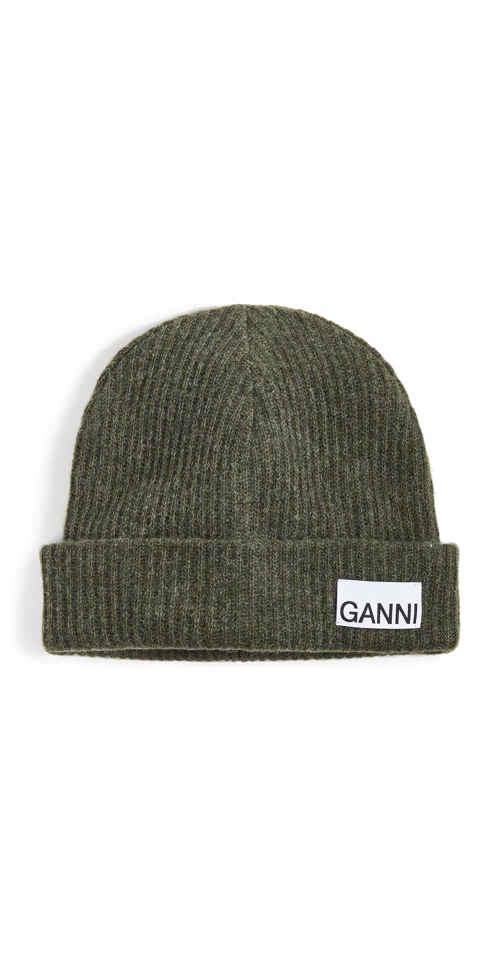 GANNI Recycled Wool Knit Beanie