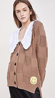 GANNI 棉质长袍针织系扣衫