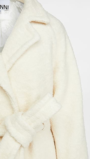 GANNI 珠地布羊毛大衣