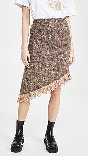 GANNI Multi Wool Skirt