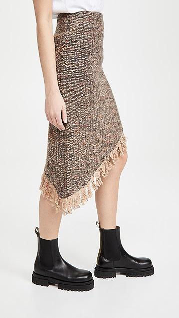 GANNI 多色羊毛半身裙
