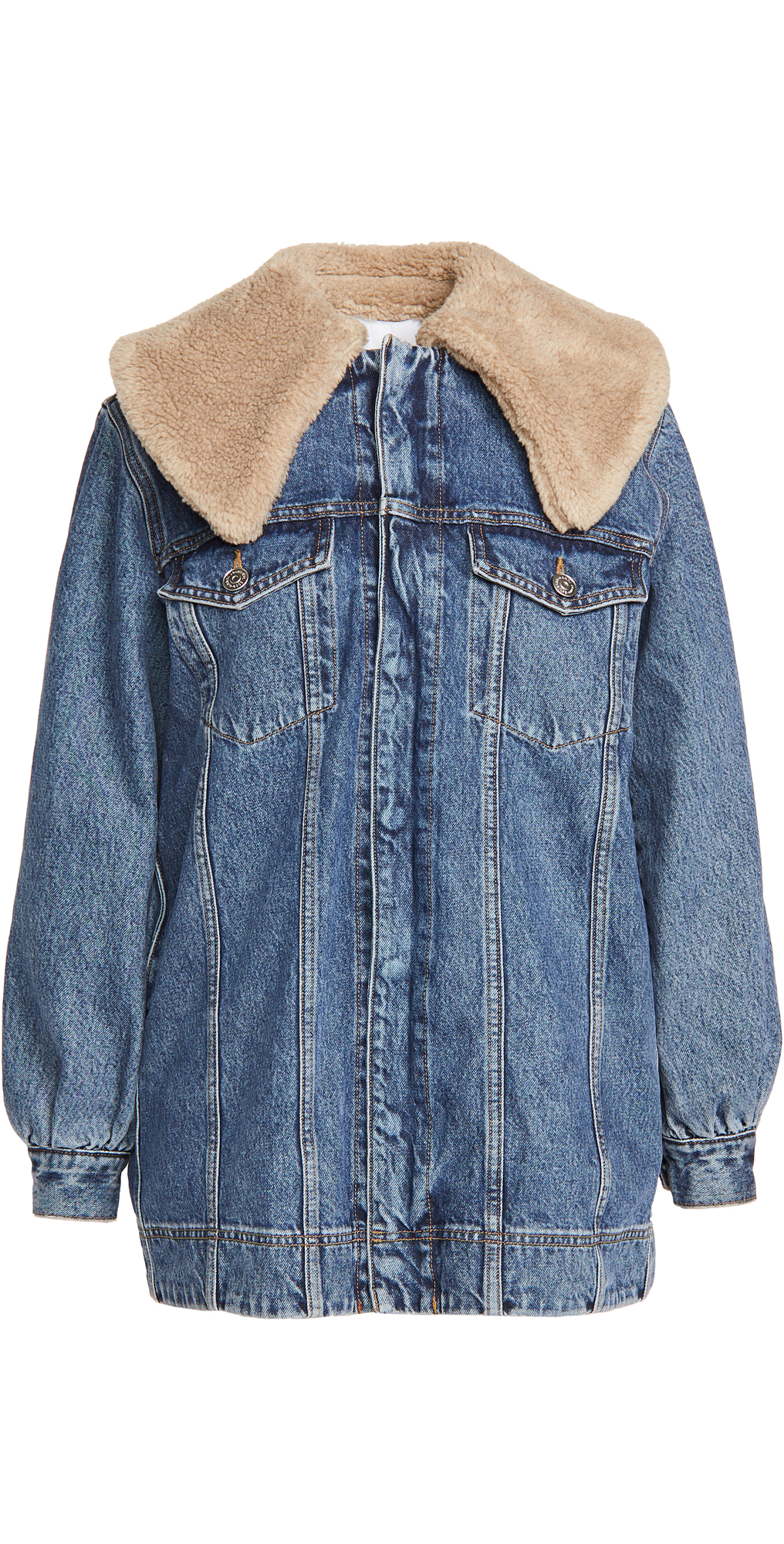 GANNI Teddy Denim Jacket