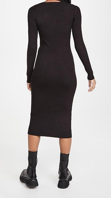 GANNI 杂色针织连衣裙