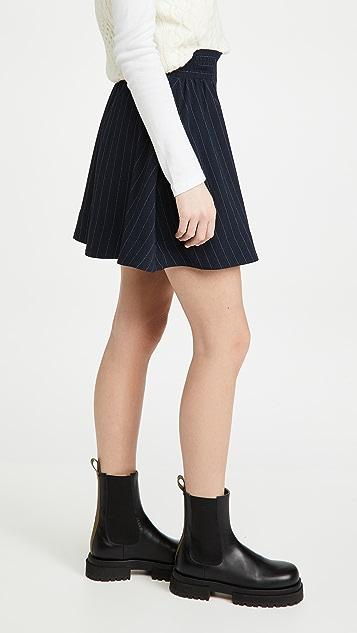 GANNI 厚实绉绸半身裙