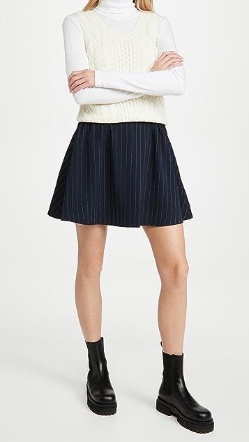 GANNI Heavy Crepe Skirt