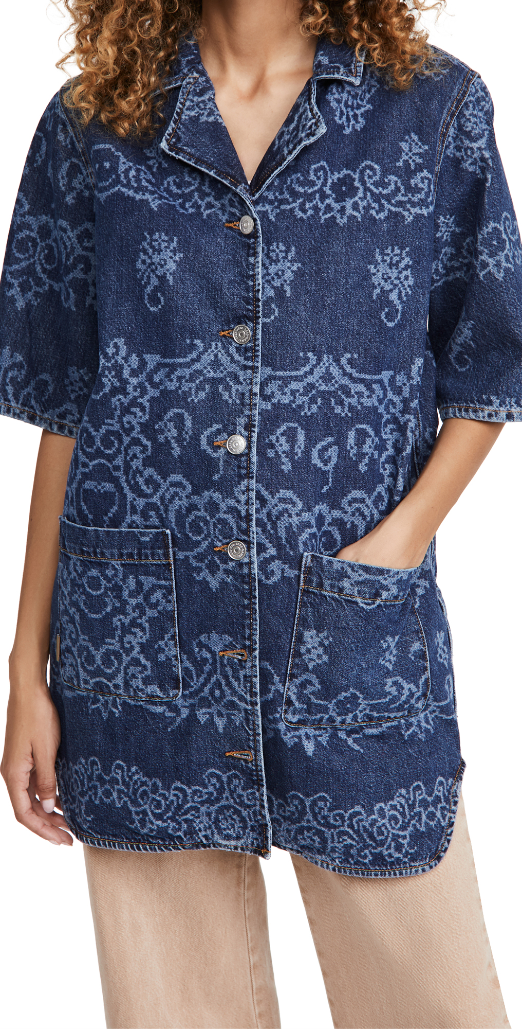 GANNI Laser Denim Shirt