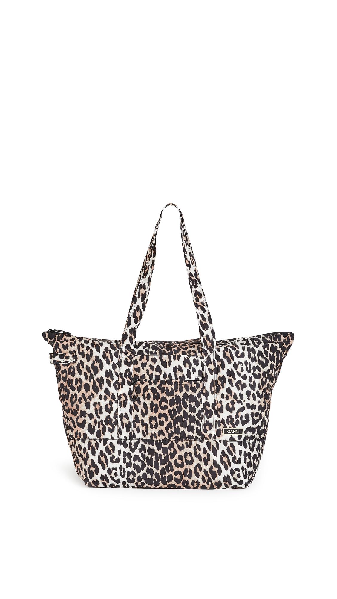GANNI Leopard Tote Bag