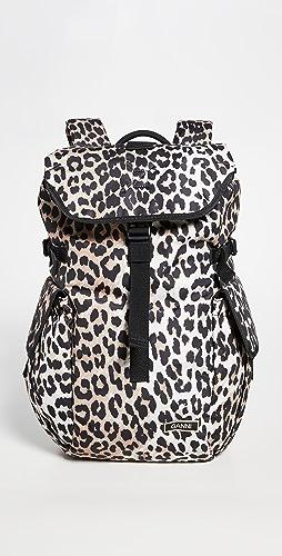 GANNI - Leopard Backpack