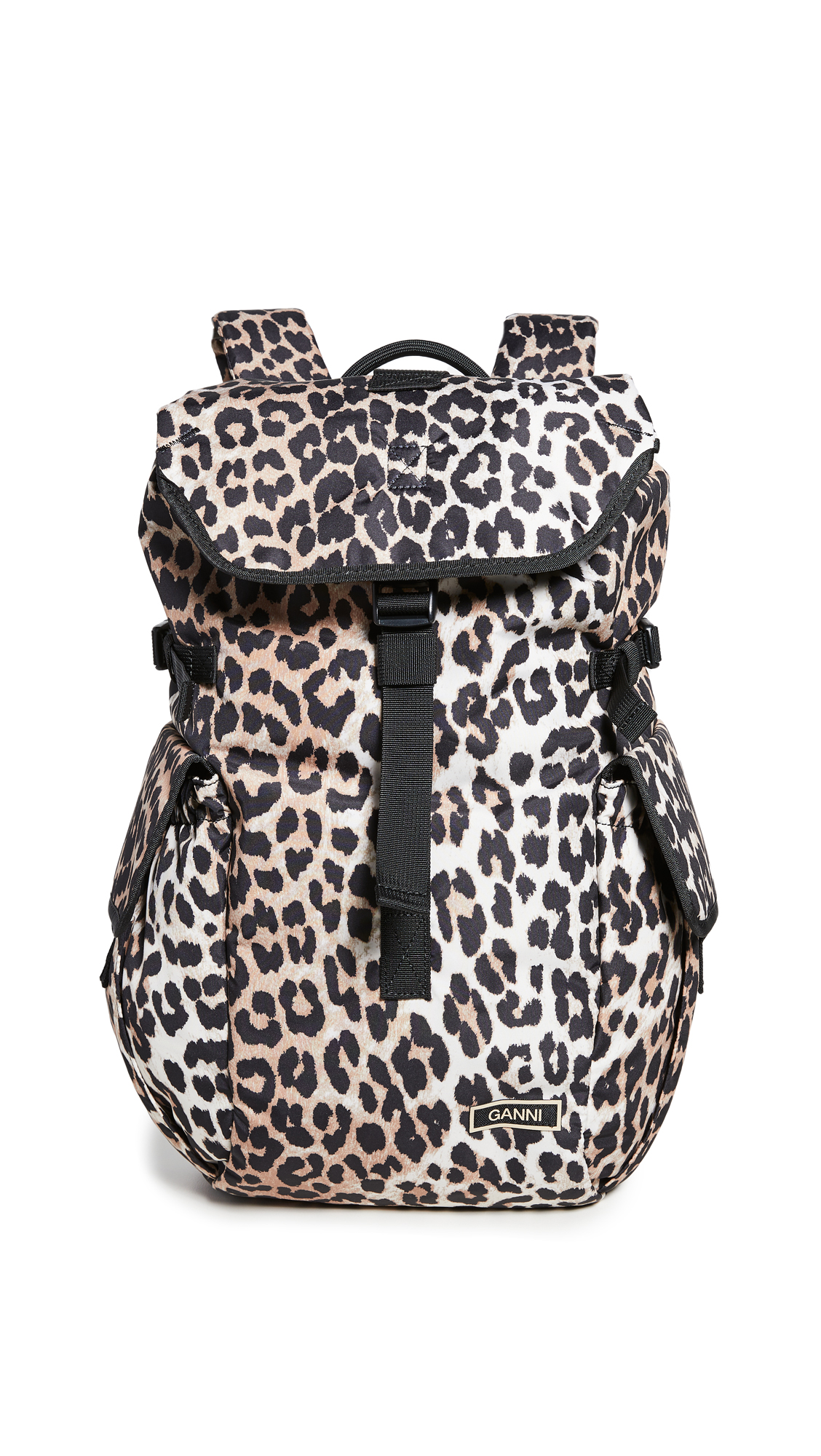 GANNI Leopard Backpack
