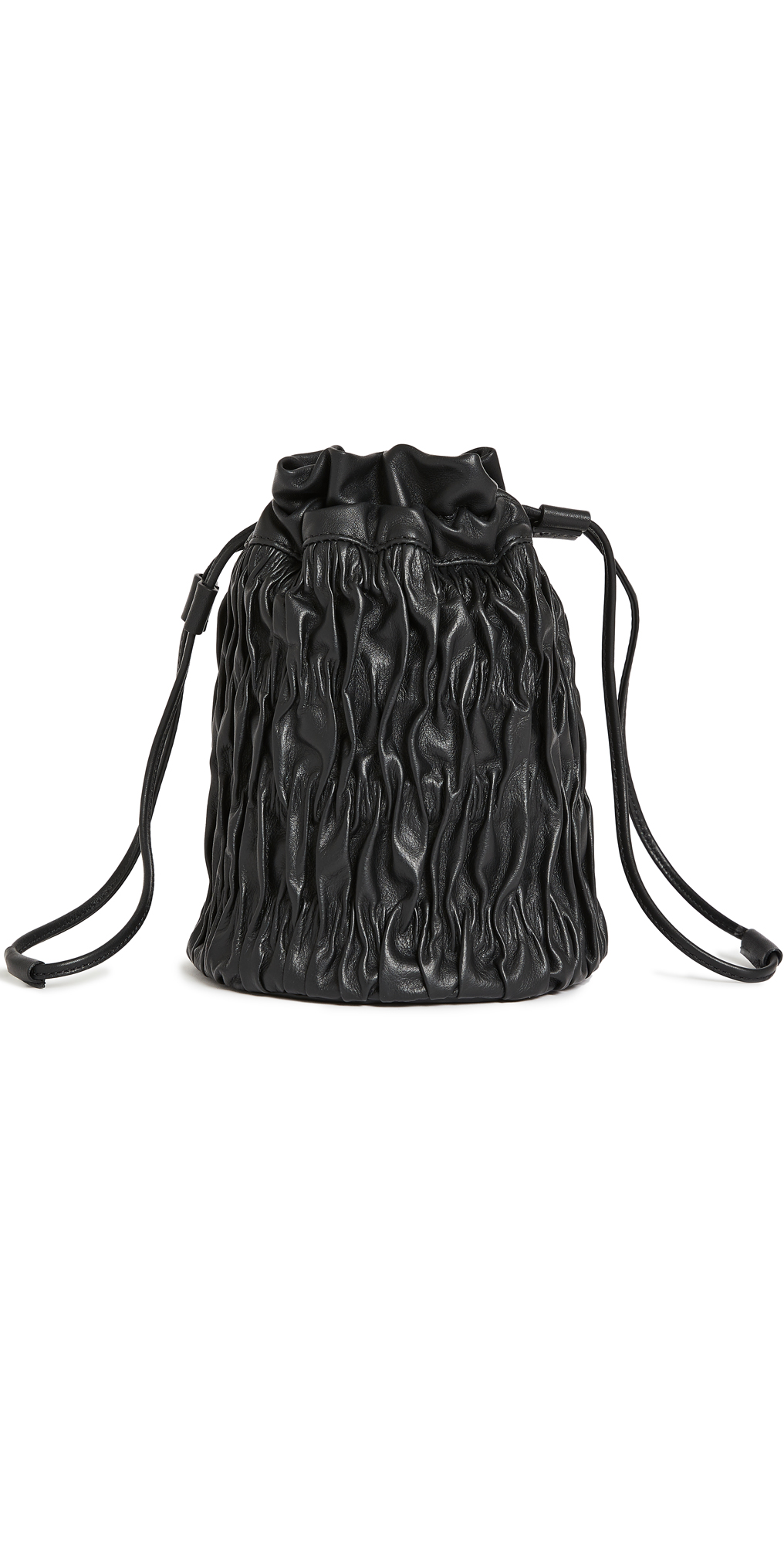 GANNI Ruched Leather Bucket